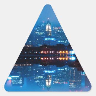 Boston skyline and fog triangle sticker