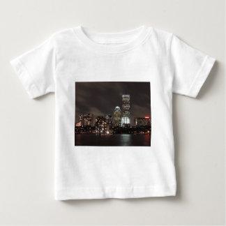 Boston Skyline at Night Baby T-Shirt