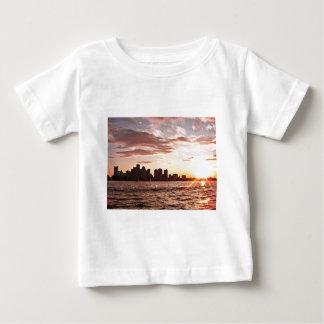 Boston skyline at sunset baby T-Shirt