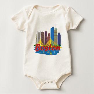 Boston Skyline Baby Bodysuit