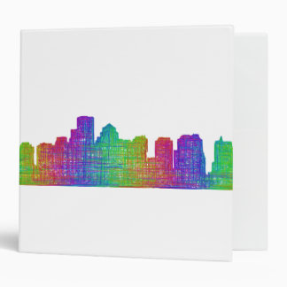 Boston skyline binder