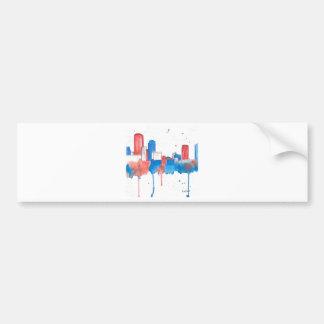 Boston Skyline Car Bumper Sticker