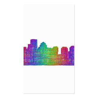 Boston skyline business card
