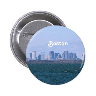 Boston Skyline 2 Inch Round Button
