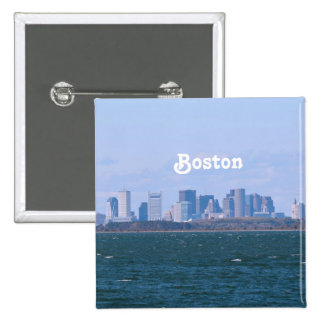 Boston Skyline 2 Inch Square Button