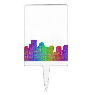 Boston skyline cake picks