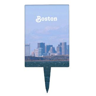 Boston Skyline Cake Topper