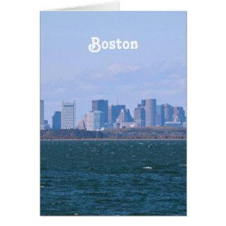 Boston Skyline Stationery Note Card