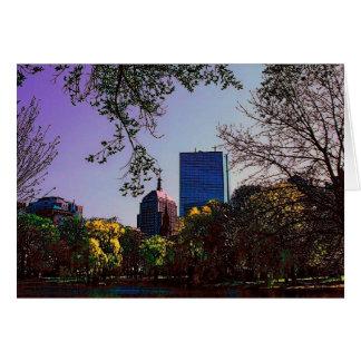 Boston Skyline Card