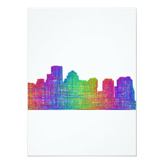Boston skyline card