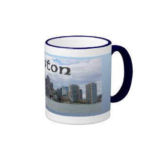 Boston Skyline Celtic Style Coffee Mug