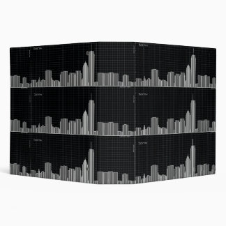 Boston Skyline - chart 3 Ring Binder