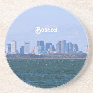 Boston Skyline Beverage Coasters