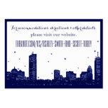 Boston Skyline Dark Blue on white Insert Card Large Business Cards (Pack Of 100)