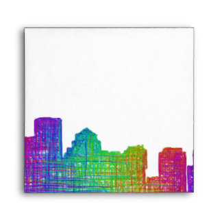 Boston skyline envelope