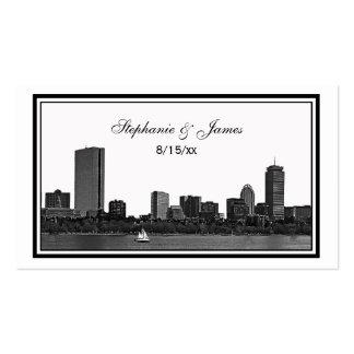 Boston Skyline Etched Framed Escort Cards