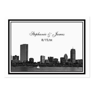 Boston Skyline Etched Framed Escort Cards #2