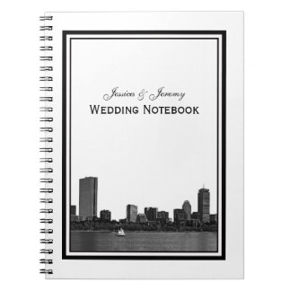 Boston Skyline Etched Framed Notebook