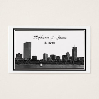 Boston Skyline Etched Framed Place Cards