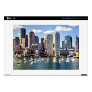 "Boston skyline from waterfront 15"" laptop skin"