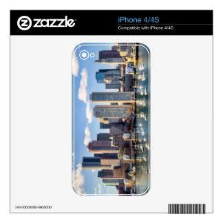 Boston skyline from waterfront decal for iPhone 4