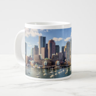 Boston skyline from waterfront giant coffee mug
