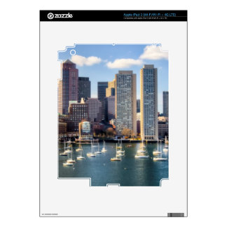 Boston skyline from waterfront iPad 3 decal