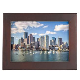 Boston skyline from waterfront keepsake box