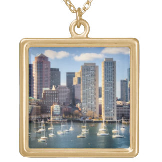 Boston skyline from waterfront necklace