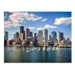 Boston skyline from waterfront post cards