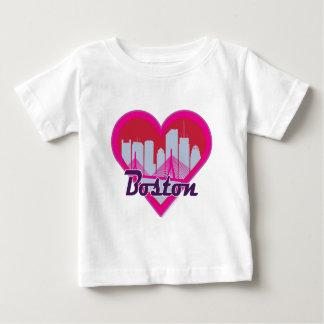 Boston Skyline Heart Baby T-Shirt
