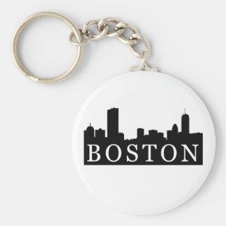 Boston Skyline Keychain