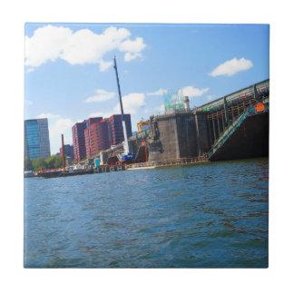 Boston skyline lake view bridges ferries fantastic ceramic tile