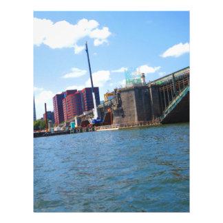 Boston skyline lake view bridges ferries fantastic letterhead