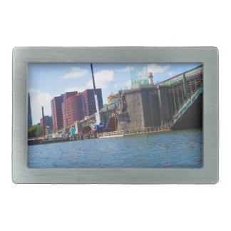 Boston skyline lake view bridges ferries fantastic rectangular belt buckles