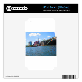 Boston skyline lake view bridges ferries fantastic iPod touch 4G decal