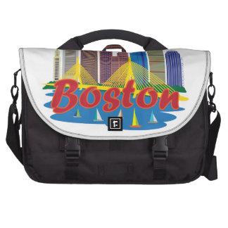 Boston Skyline Laptop Messenger Bag