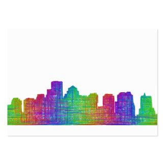 Boston skyline large business card