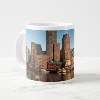 Boston skyline large coffee mug