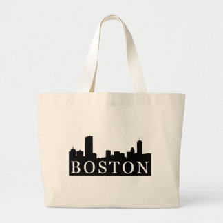 Boston Skyline Large Tote Bag