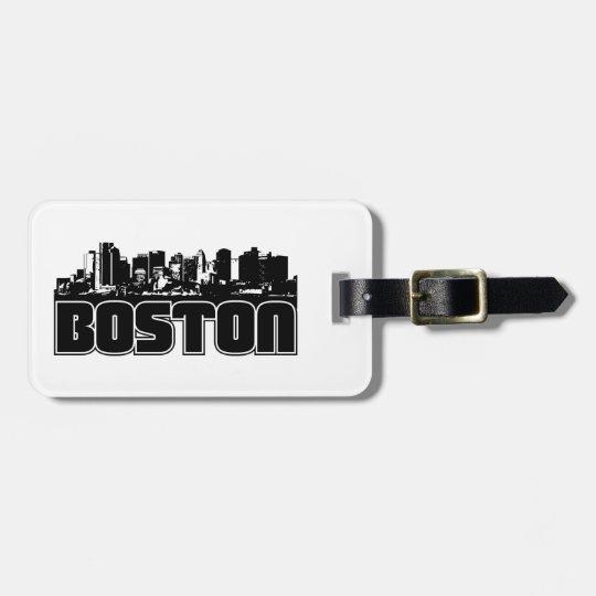 Boston Skyline Luggage Tag