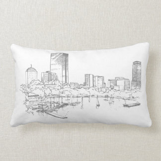 Boston Skyline Lumbar Pillow