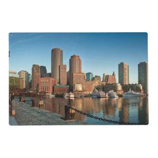 Boston skyline laminated placemat