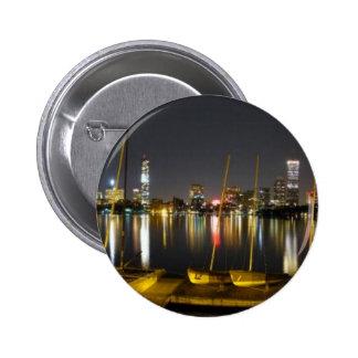 Boston Skyline Panorama Pins