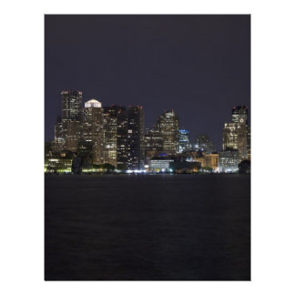 Boston Skyline Personalized Letterhead