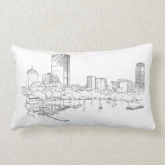Boston Skyline Throw Pillows