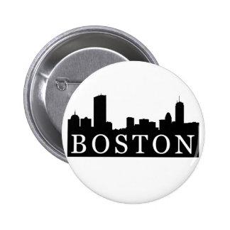 Boston Skyline Pinback Button