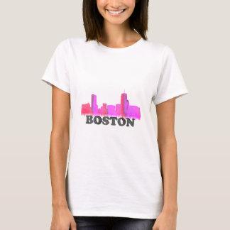 Boston Skyline Pink T-Shirt