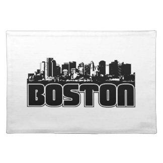 Boston Skyline Cloth Placemat