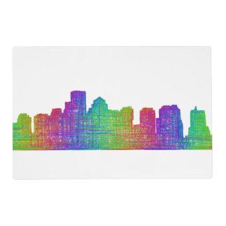 Boston skyline placemat